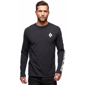 Black Diamond Logo Longsleeve Tee Men, black heather